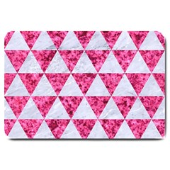 Triangle3 White Marble & Pink Marble Large Doormat