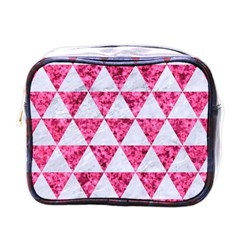 Triangle3 White Marble & Pink Marble Mini Toiletries Bags