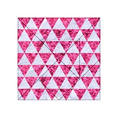 Triangle3 White Marble & Pink Marble Acrylic Tangram Puzzle (4  X 4 ) by trendistuff
