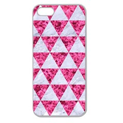 Triangle3 White Marble & Pink Marble Apple Seamless Iphone 5 Case (clear)