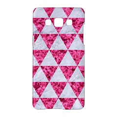Triangle3 White Marble & Pink Marble Samsung Galaxy A5 Hardshell Case  by trendistuff