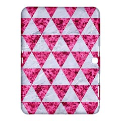 Triangle3 White Marble & Pink Marble Samsung Galaxy Tab 4 (10 1 ) Hardshell Case