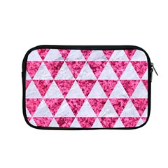 Triangle3 White Marble & Pink Marble Apple Macbook Pro 13  Zipper Case