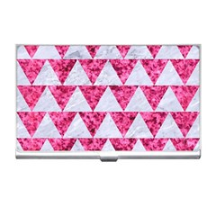 Triangle2 White Marble & Pink Marble Business Card Holders