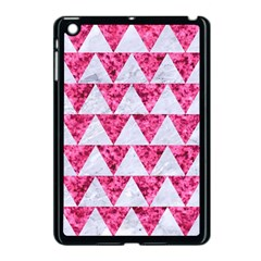 Triangle2 White Marble & Pink Marble Apple Ipad Mini Case (black) by trendistuff