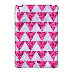 Triangle2 White Marble & Pink Marble Apple Ipad Mini Hardshell Case (compatible With Smart Cover)