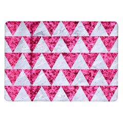 Triangle2 White Marble & Pink Marble Samsung Galaxy Tab 10 1  P7500 Flip Case