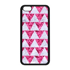 Triangle2 White Marble & Pink Marble Apple Iphone 5c Seamless Case (black)