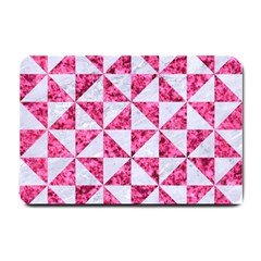 Triangle1 White Marble & Pink Marble Small Doormat