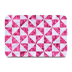 Triangle1 White Marble & Pink Marble Plate Mats by trendistuff