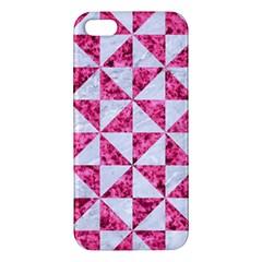 Triangle1 White Marble & Pink Marble Iphone 5s/ Se Premium Hardshell Case
