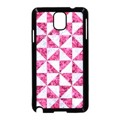 Triangle1 White Marble & Pink Marble Samsung Galaxy Note 3 Neo Hardshell Case (black) by trendistuff