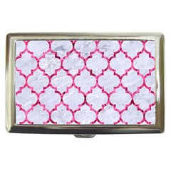 Tile1 White Marble & Pink Marble (r) Cigarette Money Cases