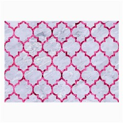 Tile1 White Marble & Pink Marble (r) Large Glasses Cloth (2 Side)