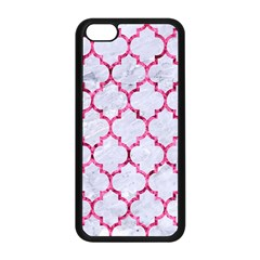 Tile1 White Marble & Pink Marble (r) Apple Iphone 5c Seamless Case (black)