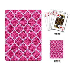 Tile1 White Marble & Pink Marble Playing Card