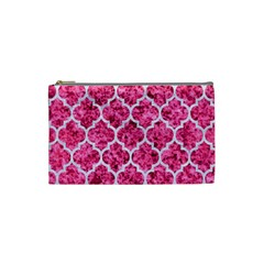 Tile1 White Marble & Pink Marble Cosmetic Bag (small)