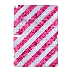 Stripes3 White Marble & Pink Marble (r) Galaxy Note 1