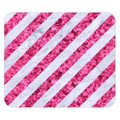 Stripes3 White Marble & Pink Marble (r) Double Sided Flano Blanket (small)