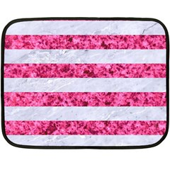 Stripes2white Marble & Pink Marble Double Sided Fleece Blanket (mini)