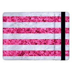 Stripes2white Marble & Pink Marble Samsung Galaxy Tab Pro 12 2  Flip Case