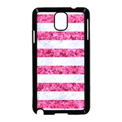 Stripes2white Marble & Pink Marble Samsung Galaxy Note 3 Neo Hardshell Case (black)