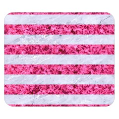 Stripes2white Marble & Pink Marble Double Sided Flano Blanket (small)