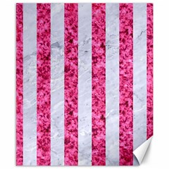 Stripes1 White Marble & Pink Marble Canvas 8  X 10