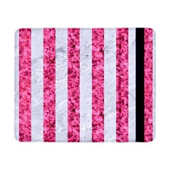 Stripes1 White Marble & Pink Marble Samsung Galaxy Tab Pro 8 4  Flip Case