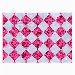 Square2 White Marble & Pink Marble Large Glasses Cloth