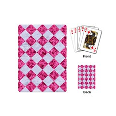 Square2 White Marble & Pink Marble Playing Cards (mini)