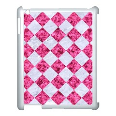 Square2 White Marble & Pink Marble Apple Ipad 3/4 Case (white)