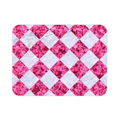 Square2 White Marble & Pink Marble Double Sided Flano Blanket (mini)