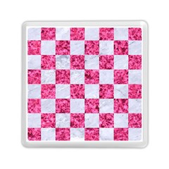 Square1 White Marble & Pink Marble Memory Card Reader (square)