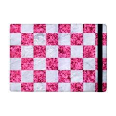 Square1 White Marble & Pink Marble Apple Ipad Mini Flip Case