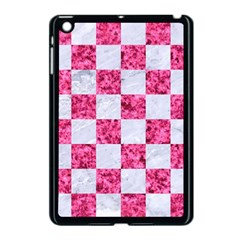 Square1 White Marble & Pink Marble Apple Ipad Mini Case (black)