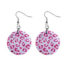 Skin5 White Marble & Pink Marble Mini Button Earrings