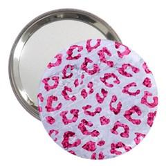 Skin5 White Marble & Pink Marble 3  Handbag Mirrors