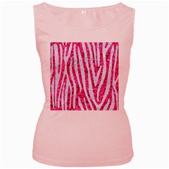 Skin4 White Marble & Pink Marble (r) Women s Pink Tank Top
