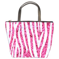 Skin4 White Marble & Pink Marble (r) Bucket Bags