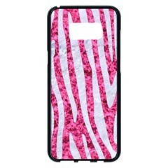 Skin4 White Marble & Pink Marble (r) Samsung Galaxy S8 Plus Black Seamless Case