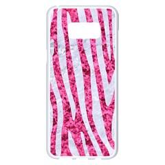 Skin4 White Marble & Pink Marble (r) Samsung Galaxy S8 Plus White Seamless Case