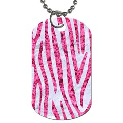 Skin4 White Marble & Pink Marble Dog Tag (two Sides)