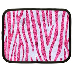 Skin4 White Marble & Pink Marble Netbook Case (xxl)