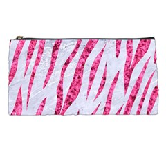 Skin3 White Marble & Pink Marble (r) Pencil Cases by trendistuff