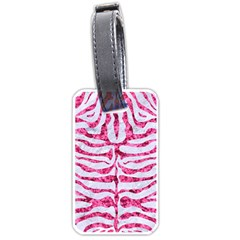Skin2 White Marble & Pink Marble (r) Luggage Tags (one Side)  by trendistuff