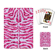 Skin2 White Marble & Pink Marble Playing Card