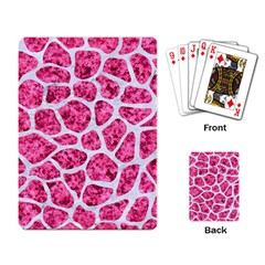 Skin1 White Marble & Pink Marble (r) Playing Card