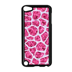 Skin1 White Marble & Pink Marble (r) Apple Ipod Touch 5 Case (black) by trendistuff
