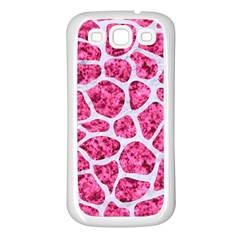 Skin1 White Marble & Pink Marble (r) Samsung Galaxy S3 Back Case (white)